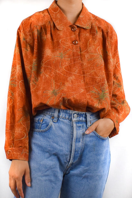 Orange Artists Blouse