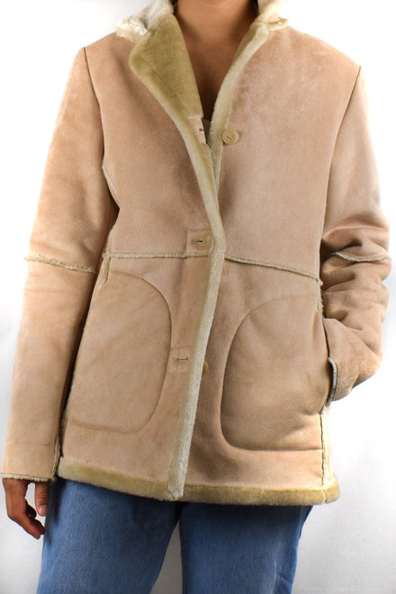 Cream Faux Fur Lined Jackets