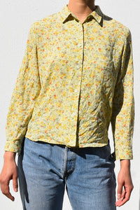 Sheer Floral Vine Blouse