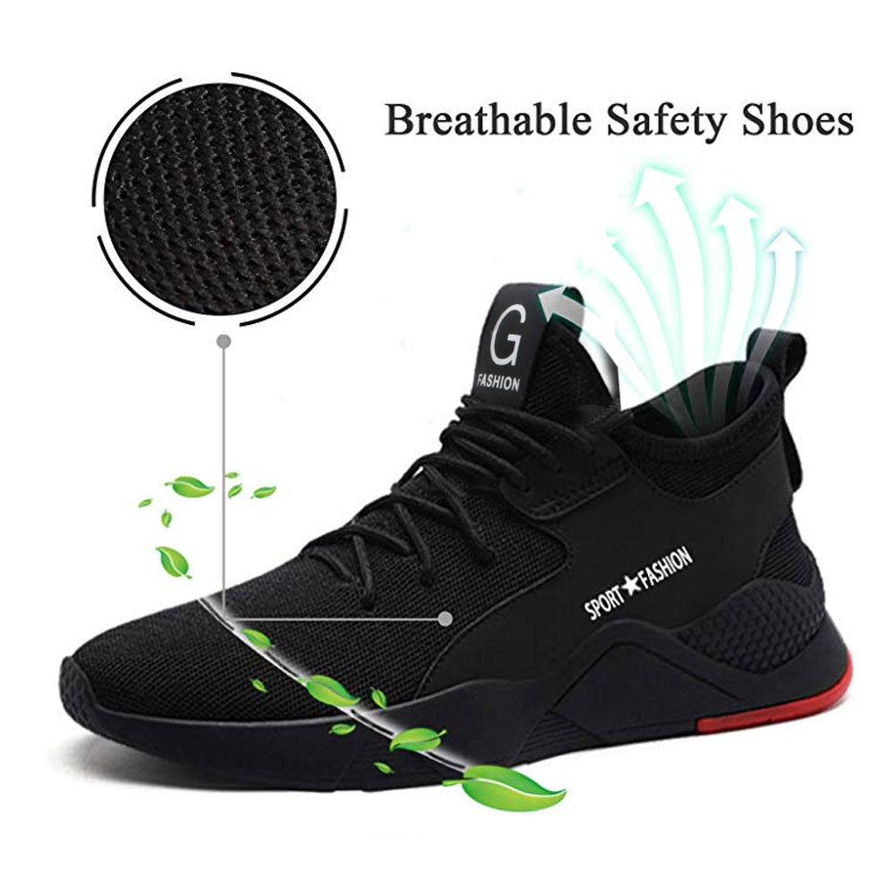 Lightweight Breathable Steel Toe Shoes for Men/Women