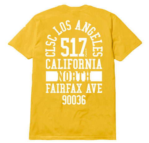 517 Fairfax Tee - Gold / White