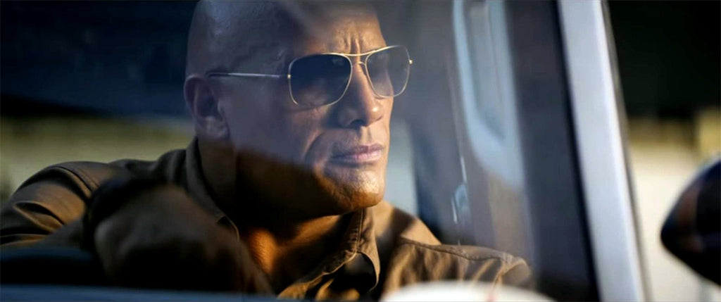 Rampage Movie Sunglasses: 'The Rock' wears Randolph Aviators