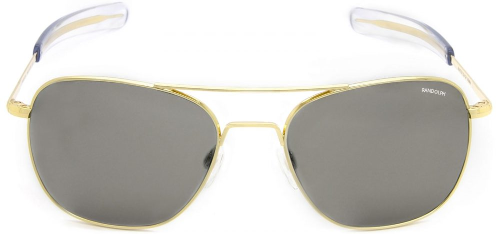 Gold Aviator sunglasses found in Captain Marvel and made by Randolph. | Randolph Engineering