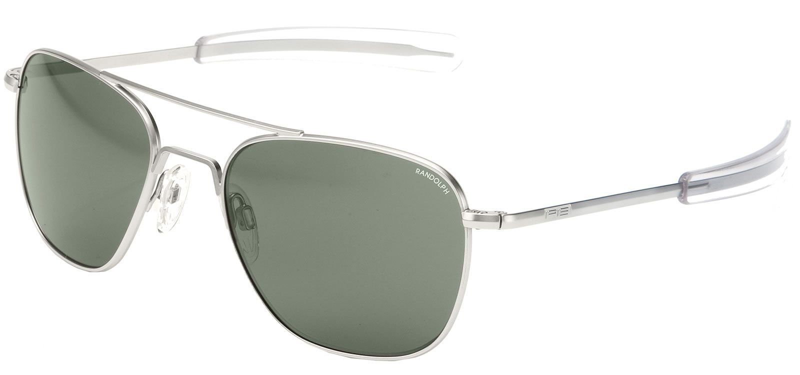 Square sunglasses for circular-shaped face: the Aviator.   Randolph Engineering