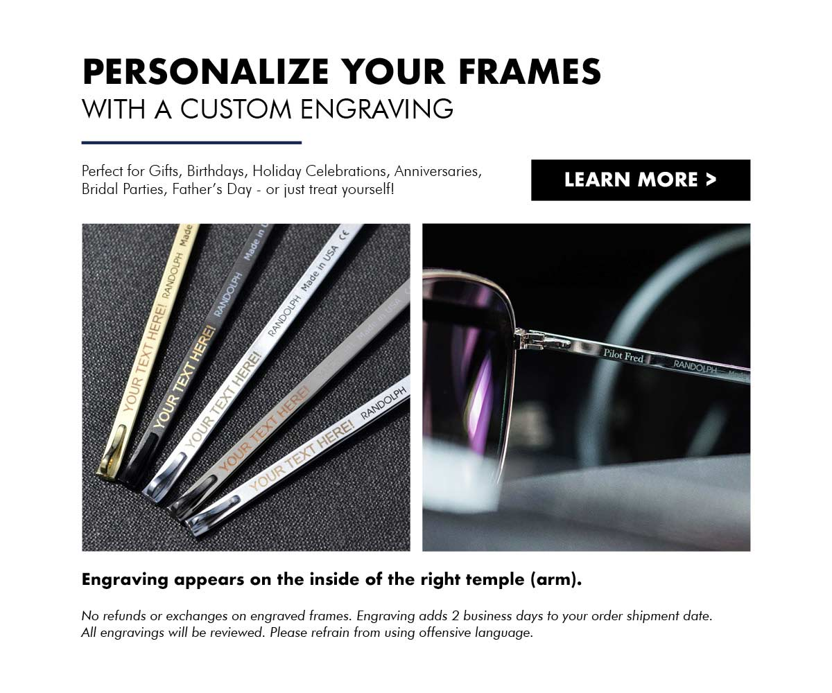 Sunglass Frame Personalized Engraving