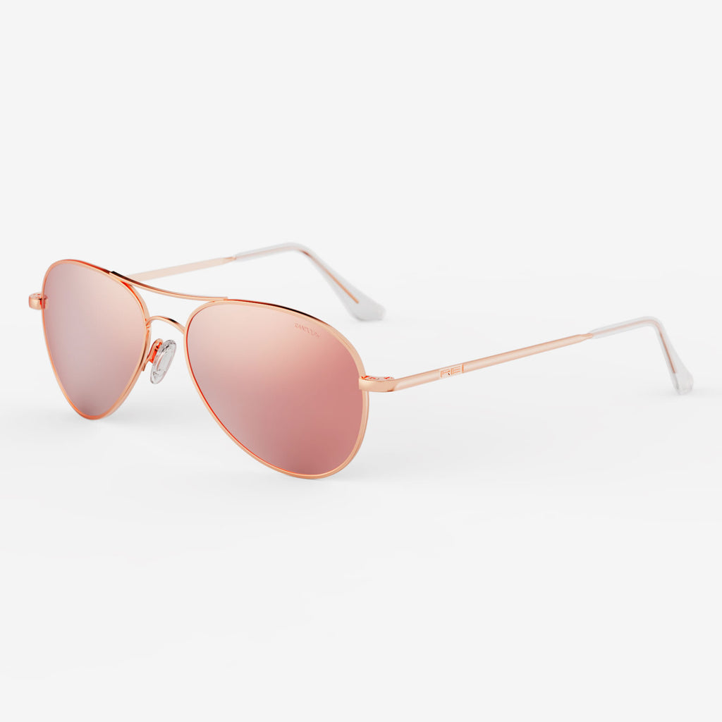 22k Rose Gold & Rose Gold Polarized Mirror Lite Lens