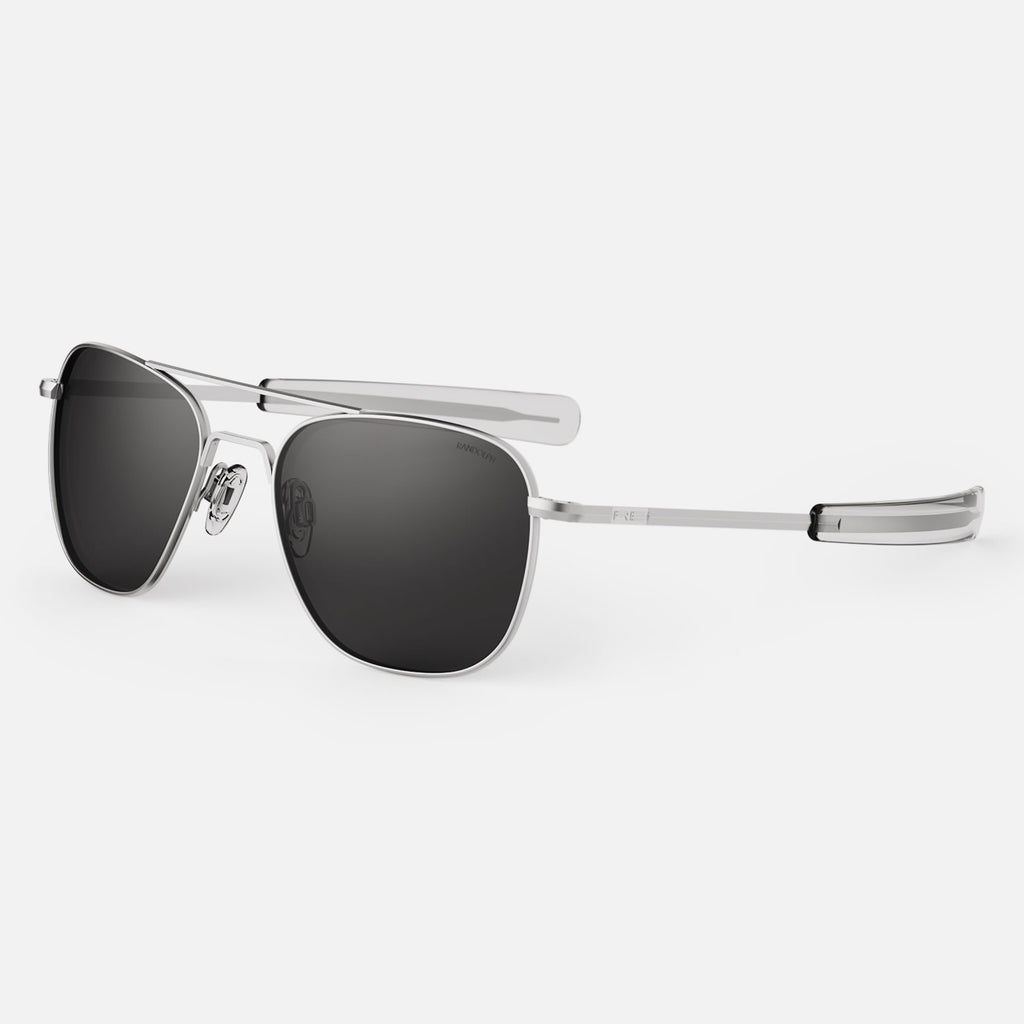 Matte Chrome & American Gray Non-Polarized Glass Lens