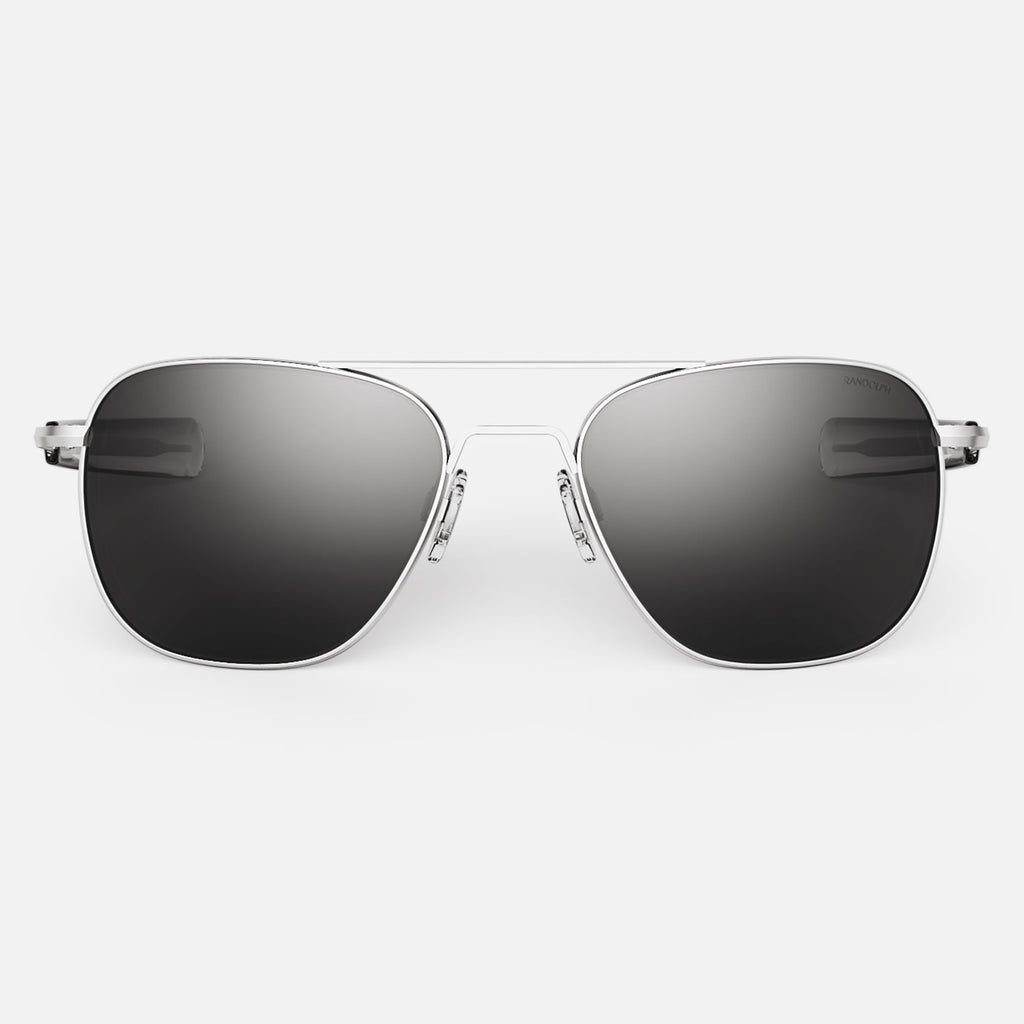 Matte Chrome & American Gray Polarized Glass Lens