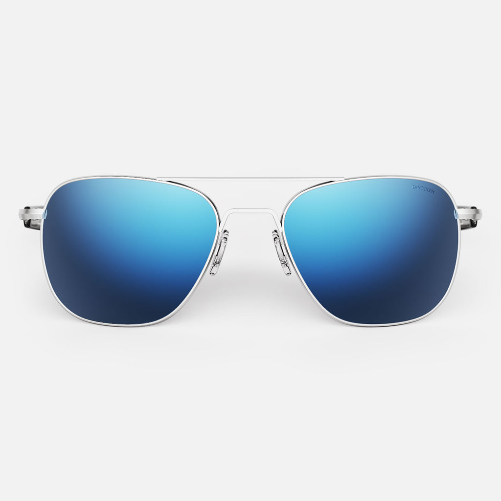 Matte Chrome & Atlantic Blue Polarized Mirror Lite Lens