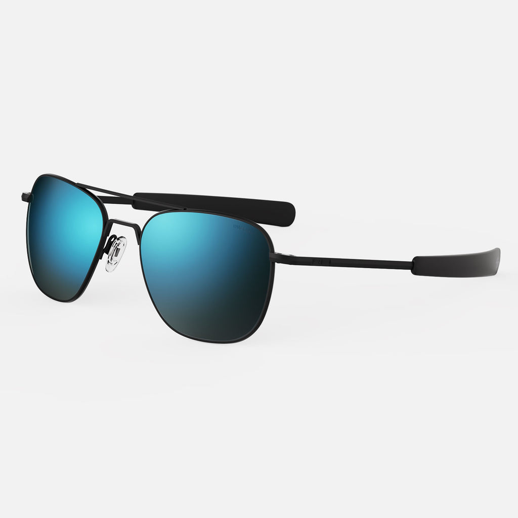Matte Black & Cobalt Polarized Glass Lens