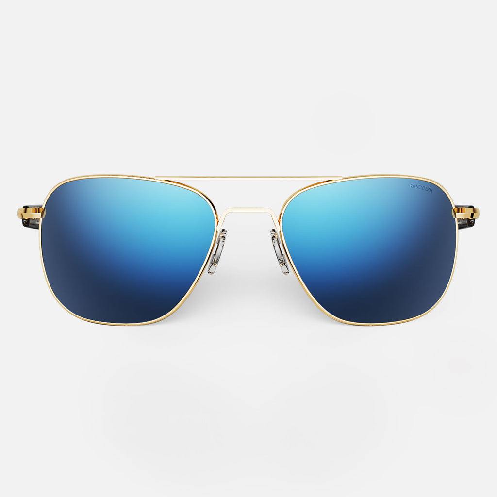 23k Gold & Atlantic Blue Polarized Mirror Lite Lens - NOT NEW