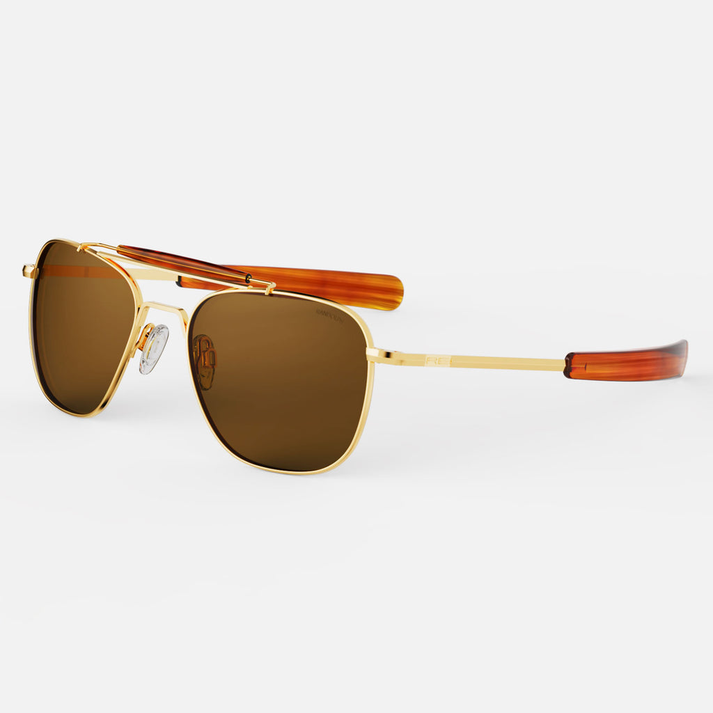 23k Gold & American Tan Polarized Glass Lens
