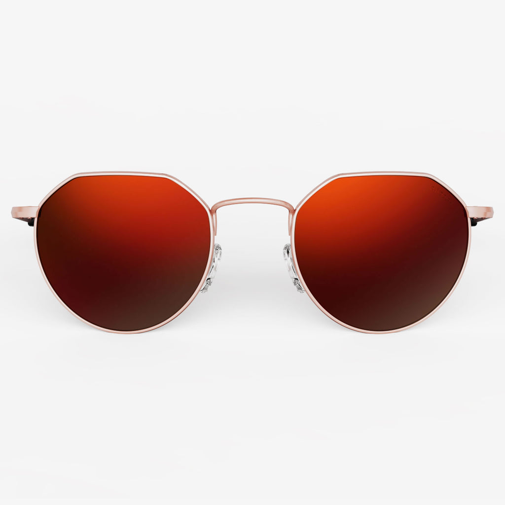 22k Rose Gold & Autumn Sunset Polarized Mirror Lite Lens