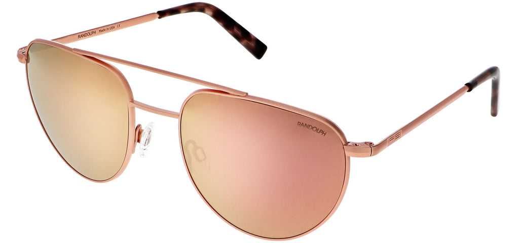 22k Rose Gold & Rose Gold Non-Polarized Mirror Lite Lens