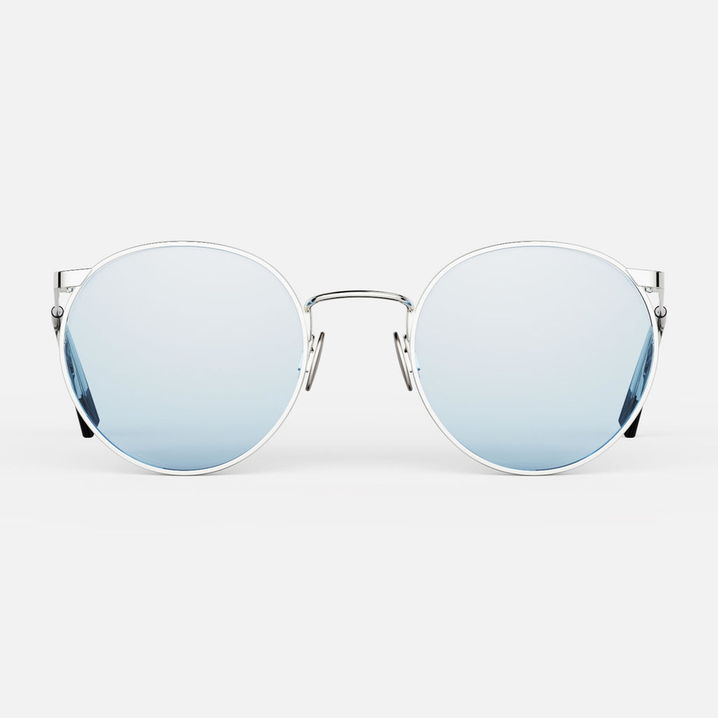 23k White Gold & Blue Hydro Non-Polarized Glass Lens