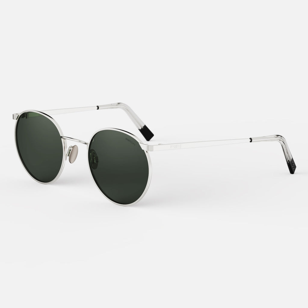 23k White Gold & AGX Polarized Glass Lens