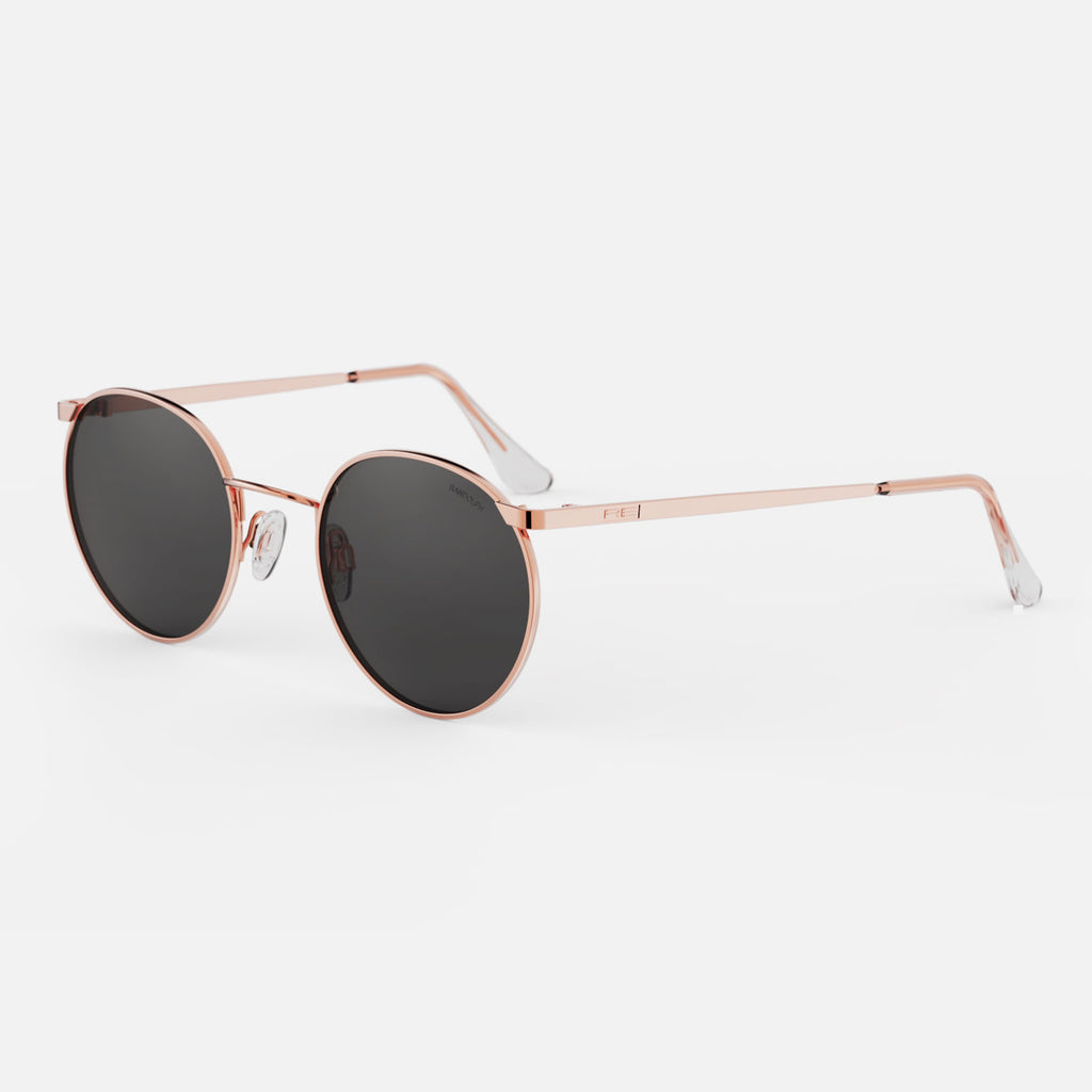 22k Rose Gold & American Gray Non-Polarized Glass Lens
