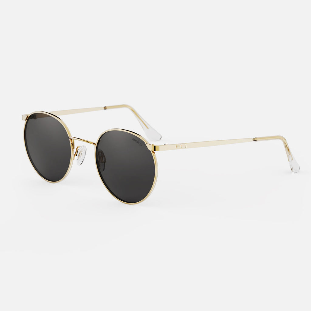 23k Gold & American Gray Polarized Glass Lens