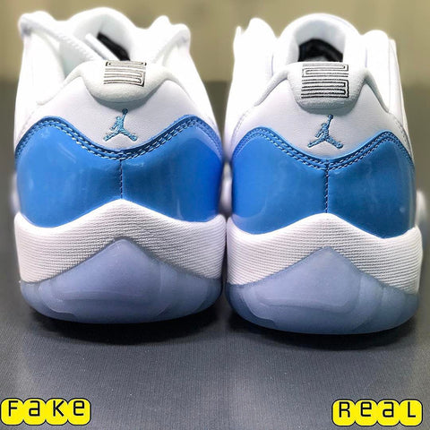 Jordan 11 Low UNC Real vs Fake