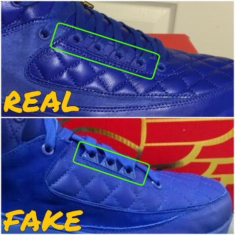 142471296be Real vs Fake Jordan 2 Just Don – KicksOnABudget