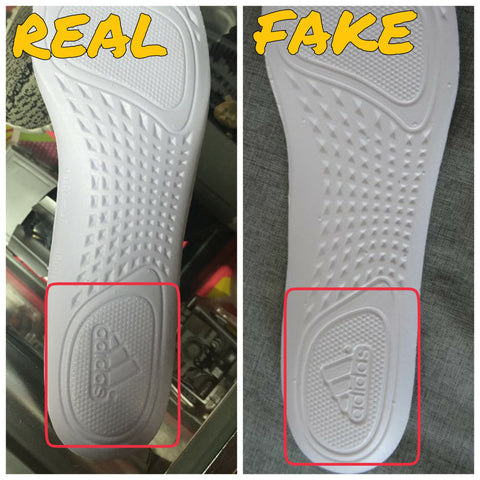 half off 8457c 6c7a9 The adidas logo is backwards on the flip side of the insole of the right  foot.