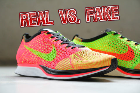 Real VS. Fake Nike Flyknit Racer