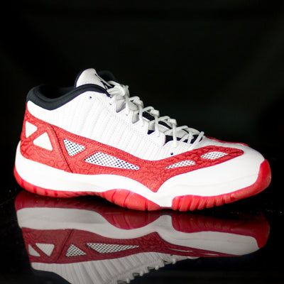8cebc44dd9ed Jordan 11 Retro Low IE White Gym Red - KicksOnABudget