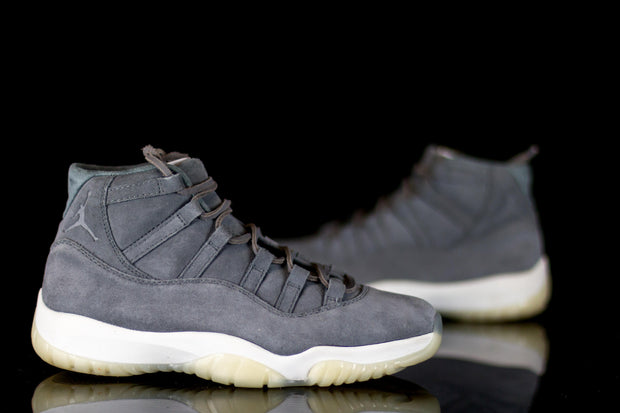 Jordan 11 Retro Pinnacle Grey Suede - KicksOnABudget
