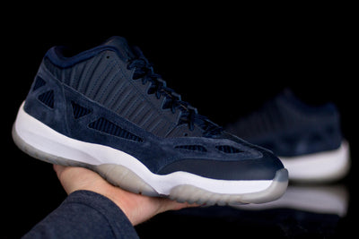 Jordan 11 Retro Low IE Obsidian - KicksOnABudget