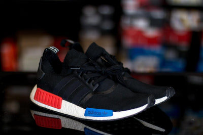 adidas NMD R1 Core Black Lush Red OG (2015/2017) - KicksOnABudget