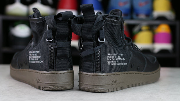 SF Air Force 1 Mid Black Dark Hazel (10.5) - KicksOnABudget