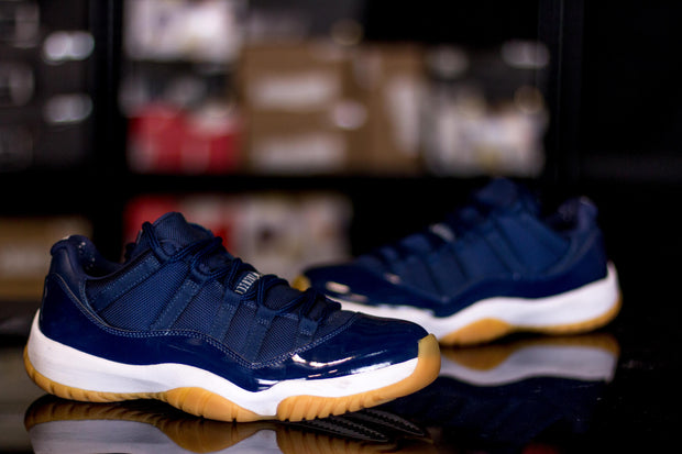Jordan 11 Retro Low Midnight Navy - KicksOnABudget