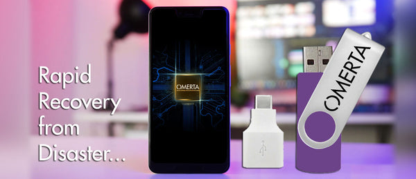 Rapid recovery should disaster strike with new  Omerta Smartphone Recovery Drive