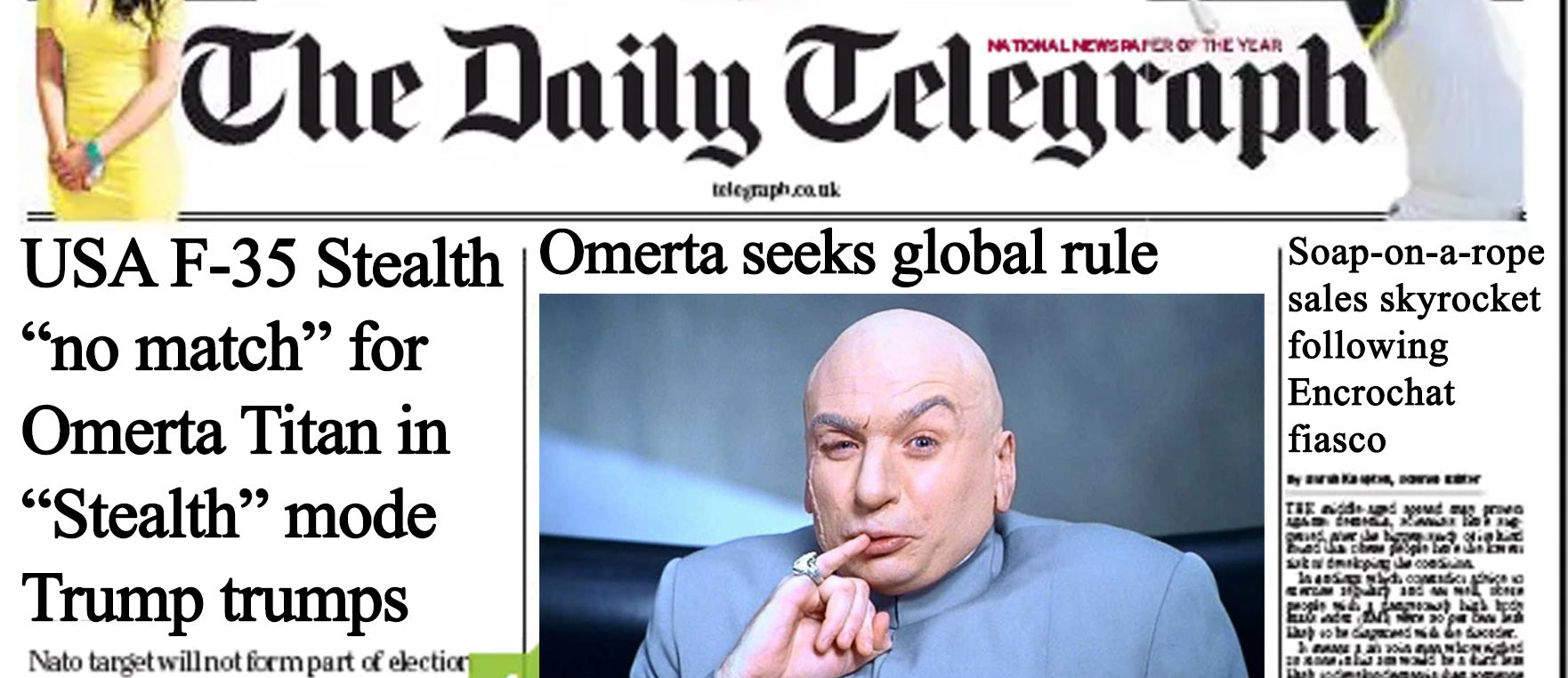 Omerta interviewed  by the Daily Telegraph following Encrochat drama