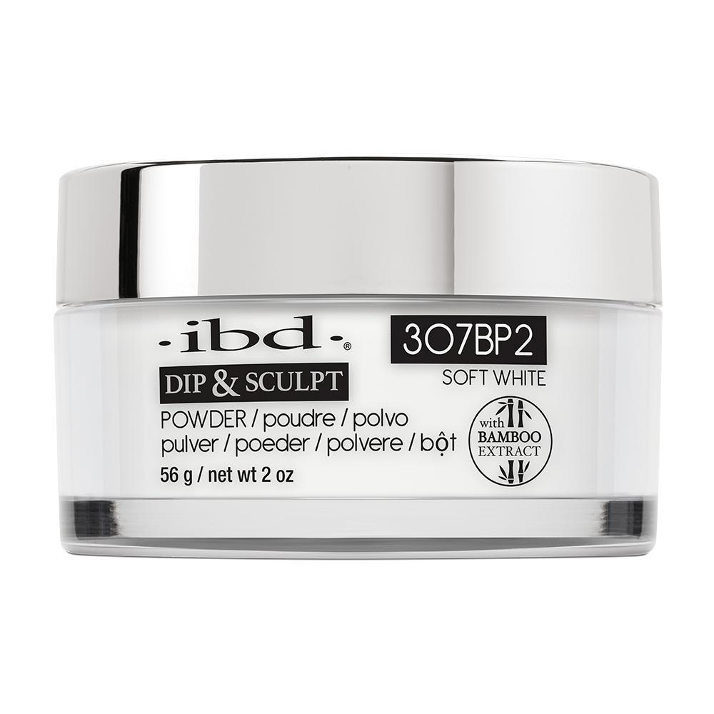 IBD French Dip & Sculpt Powder - Soft White (56g)