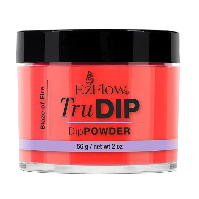 EzFlow TruDip Nail Dipping Powder - Blaze of Fire (56g)