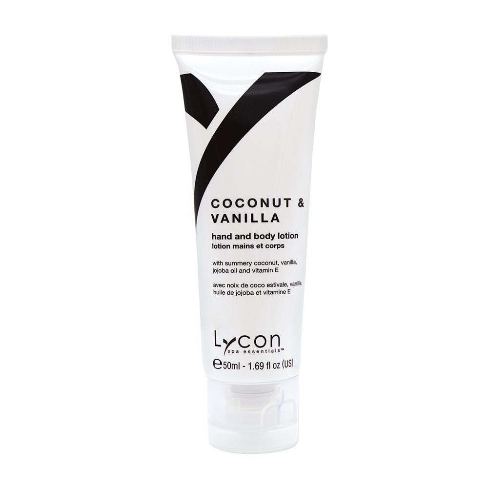 Lycon Spa Essentials Coconut & Vanilla Hand & Body Lotion Tube (50ml)