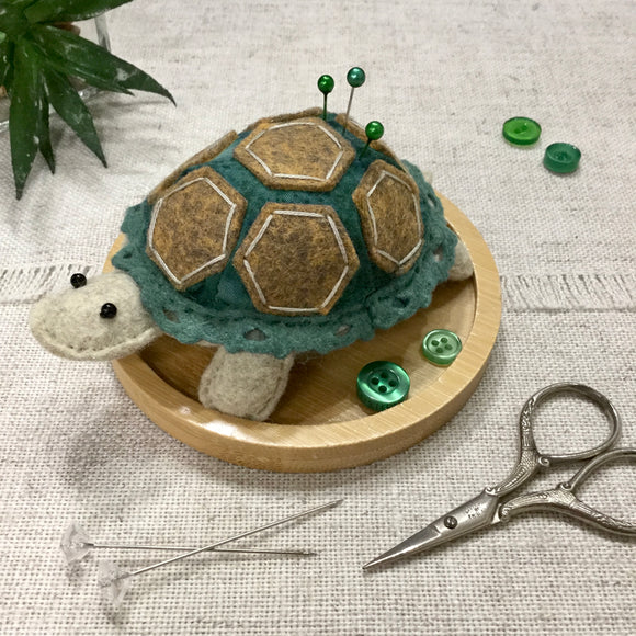 Tortoise Pincushion / Handmade Felt Tortoise - Little Bun Designs UK