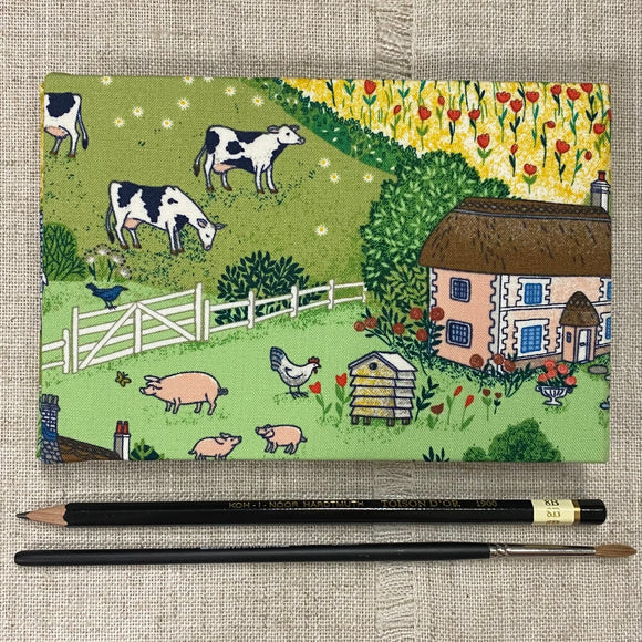 Handmade Watercolour Pad / Sketchbook / English Countryside - Little Bun Designs UK