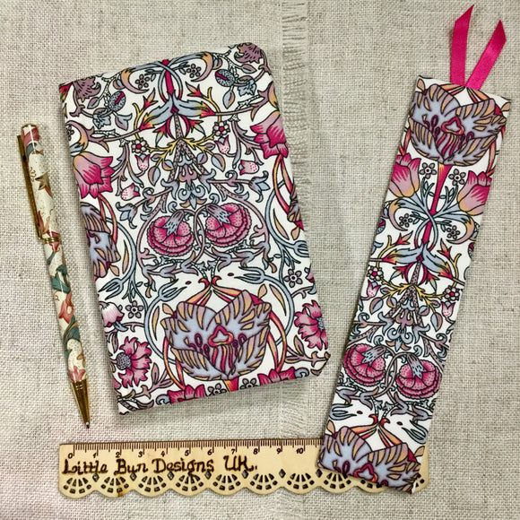Art Deco Fabric Notebook / A6 Notebook / Address Book / Bookmark - Little Bun Designs UK