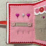 Handmade Needle Book / Sewing Gifts / Floral Fabric Needle Case - Little Bun Designs UK