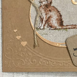 Handmade Cat Card - Little Bun Designs UK