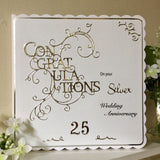Personalised Diamond Wedding Anniversary Card - Little Bun Designs UK