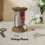Rose Scissor Holder / Vintage Roses - Little Bun Designs UK