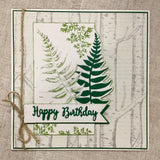 Handmade Botanical Birthday Card / Male Birthday Card - Little Bun Designs UK