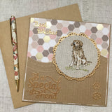 Golden Retriever Handmade Birthday Card - Little Bun Designs UK