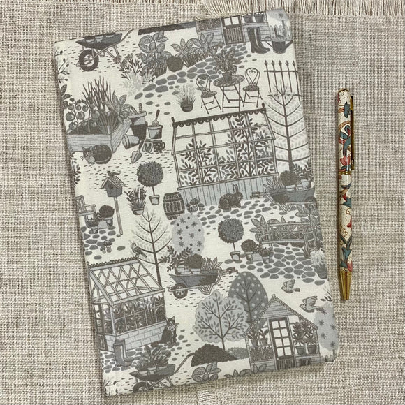 Garden Allotment A5 Fabric Notebook - Little Bun Designs UK