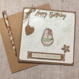 Guinea Pig Birthday Card / Quirky Best Friend Card/ Guinea Pig Lover - Little Bun Designs UK