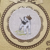 Fox Terrier Birthday Card / Handmade Birthday Card - Little Bun Designs UK