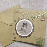 Handmade Puppy Birthday Card - Little Bun Designs UK